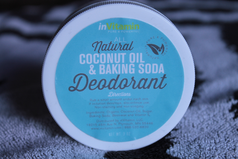 inVitamin All Natural Coconut Oil and Baking Soda Deodorant