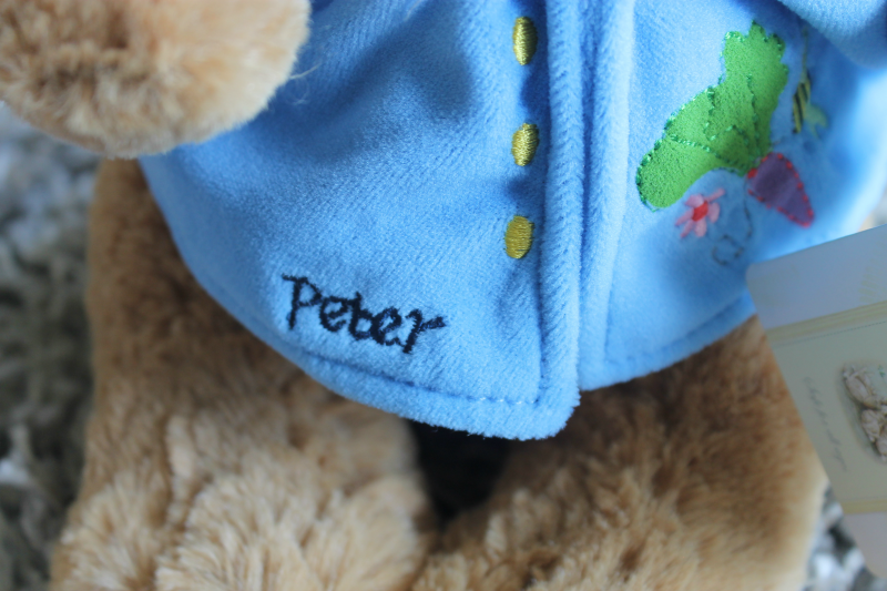 Peter Rabbit Plush Jacket Embroidery