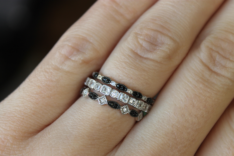 Everly Stackable Rings featuring the ZARA, DEVLIN, and SIA bands