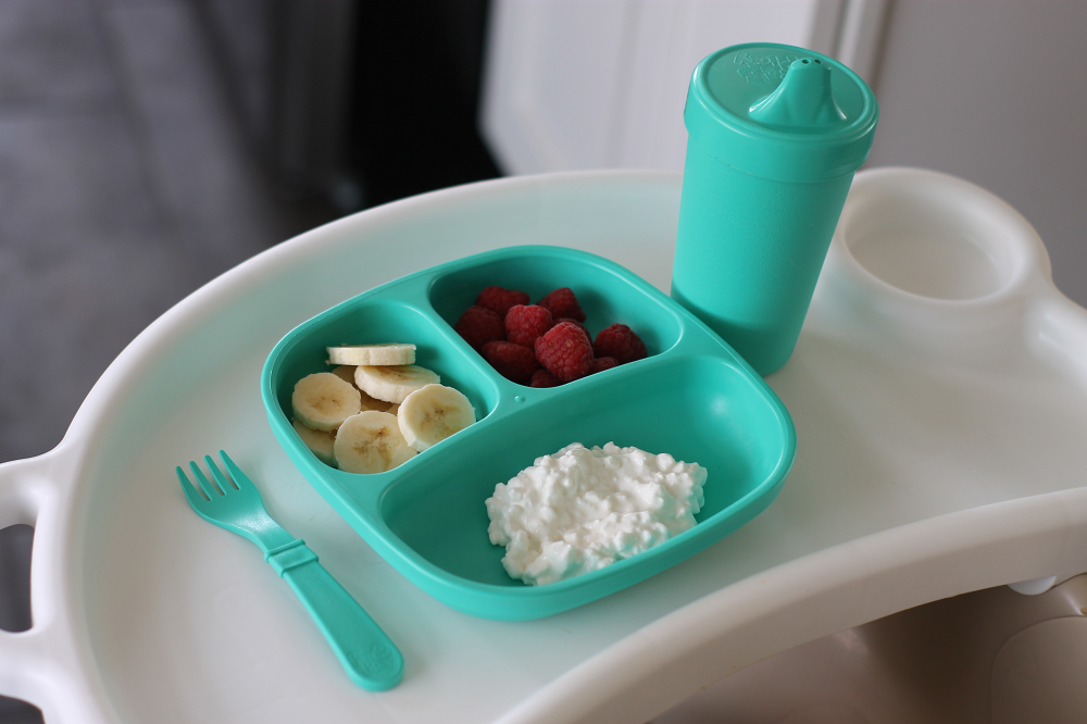 Re-Play Recycled Plate, Sippy Cup and Fork from Sorbet Collection