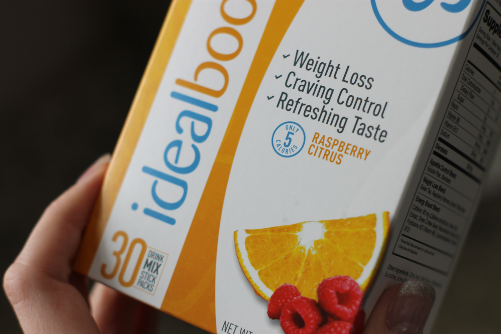 IdealBoost Raspberry Citrus drink mix helps with weight loss, craving control and it also boosts energy.
